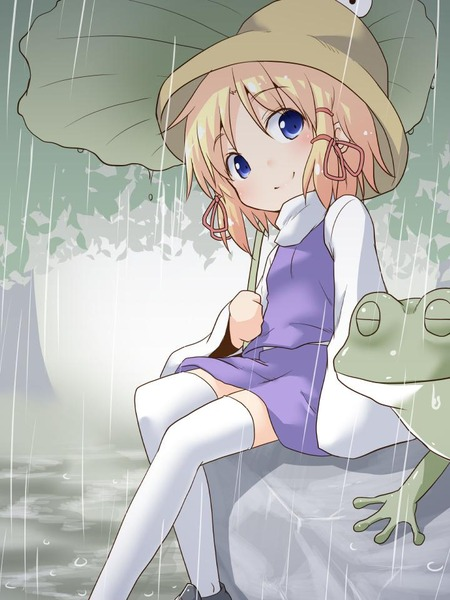洩矢諏訪子と葉っぱ傘-13