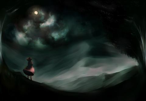 因幡てゐと月-13