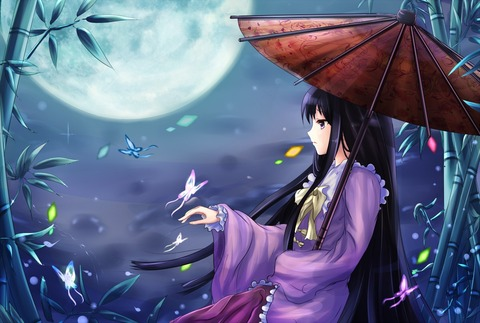 輝夜と満月の竹林-28