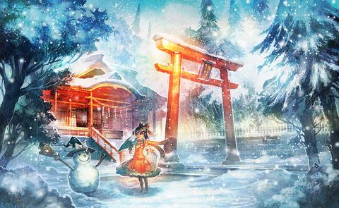 博麗霊夢と雪-26