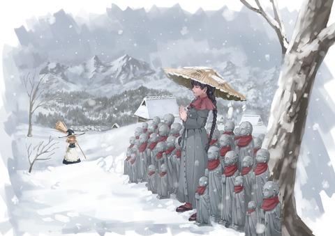 矢田寺成美と雪-31