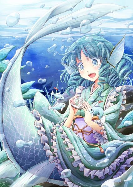わかさぎ姫と魚-05