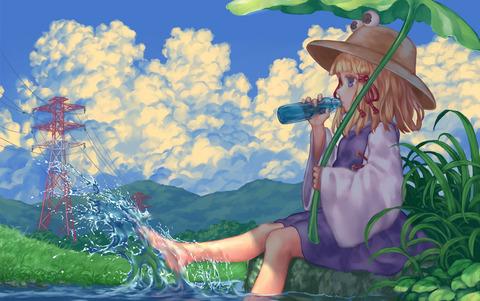 洩矢諏訪子と葉っぱ傘-06