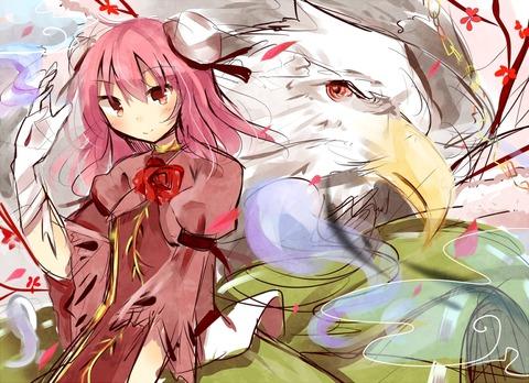 茨木華扇と鷲-11