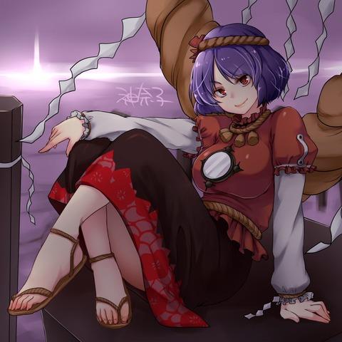 八坂神奈子と鏡-13