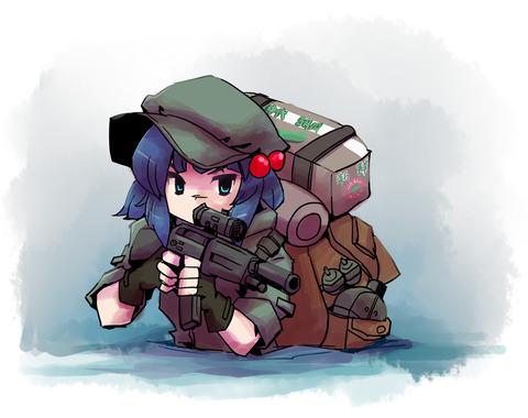 河城にとりと銃-31