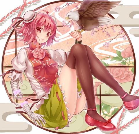 茨木華扇と鷲-5