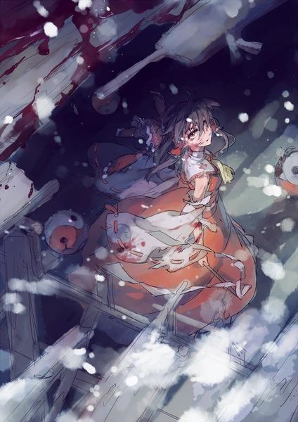 博麗霊夢と雪-05