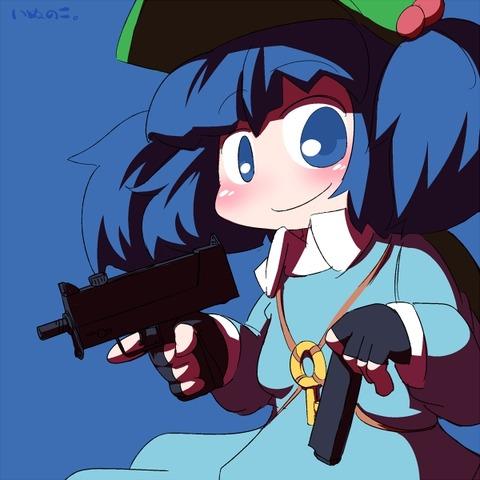 河城にとりと銃-14