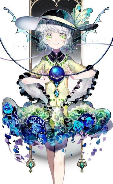 古明地こいしと青いバラ-41
