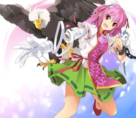 茨木華扇と鷲-05