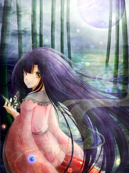 輝夜と満月の竹林-32
