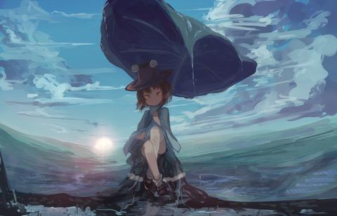 洩矢諏訪子と葉っぱ傘-19