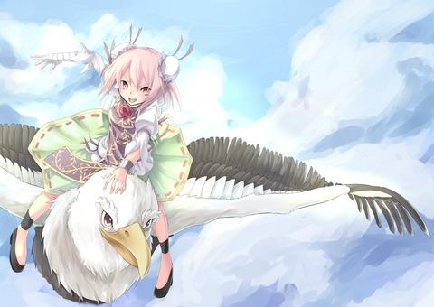茨木華扇と鷲-14