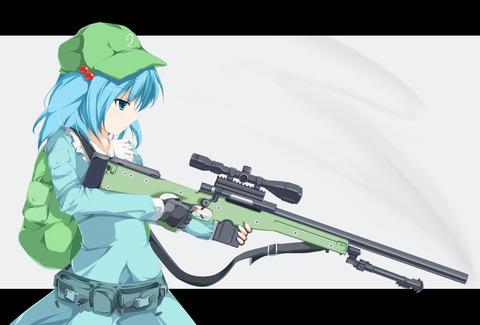 河城にとりと銃-19