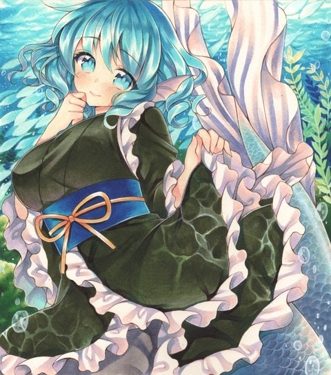 わかさぎ姫と魚-09