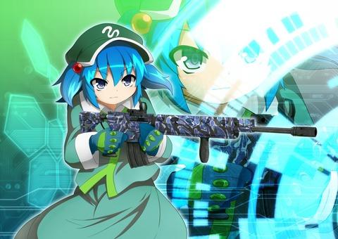 河城にとりと銃-07