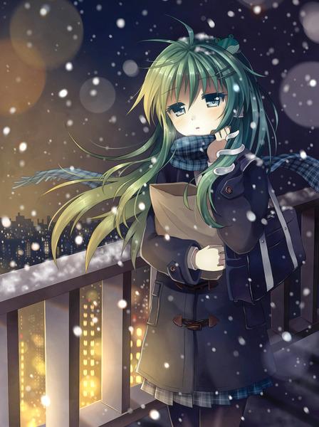 東風谷早苗と冬-15