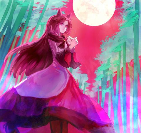 今泉影狼満月の竹林-48