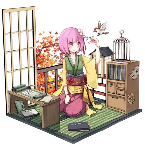 稗田阿求と和室-12
