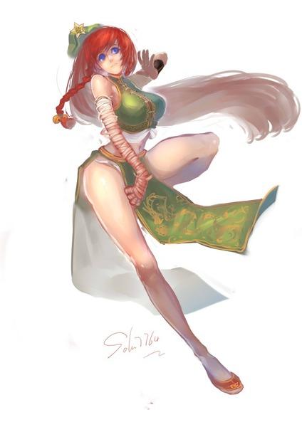 紅美鈴チャイナドレス-05