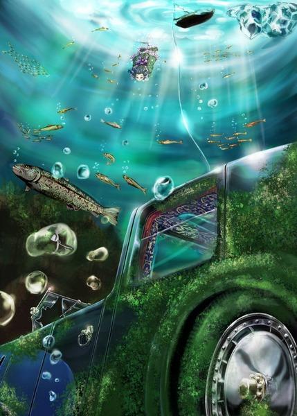 わかさぎ姫と魚-07