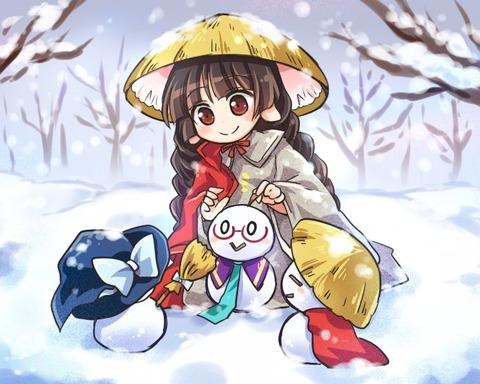 矢田寺成美と雪-08