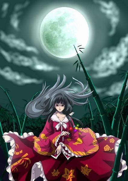 輝夜と満月の竹林-15