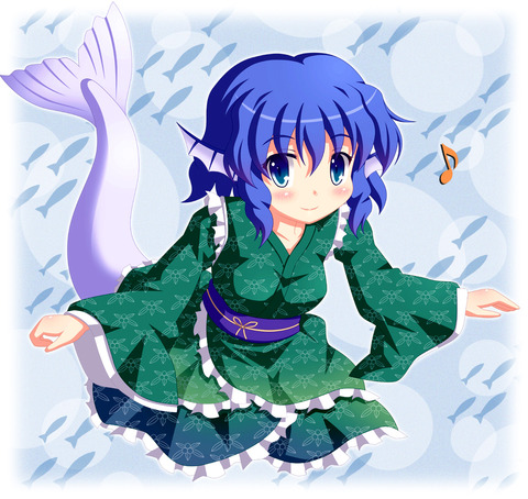わかさぎ姫と魚-11