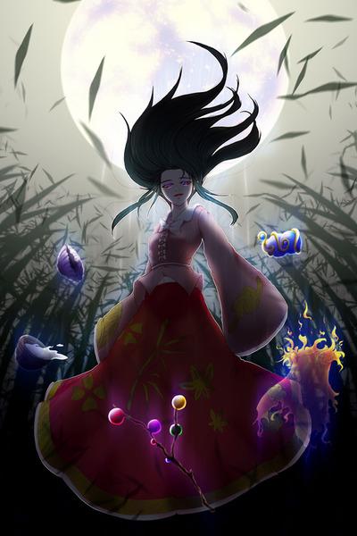 輝夜と満月の竹林-04