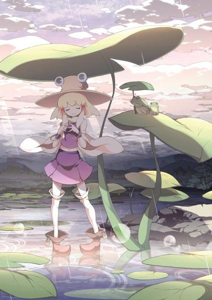 洩矢諏訪子と葉っぱ傘-01