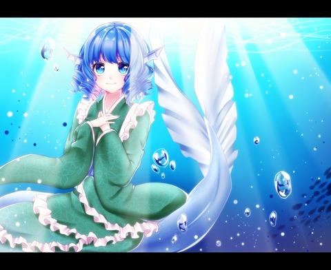 わかさぎ姫と魚-42