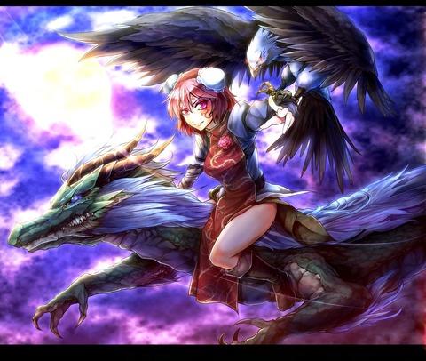 茨木華扇と鷲-24