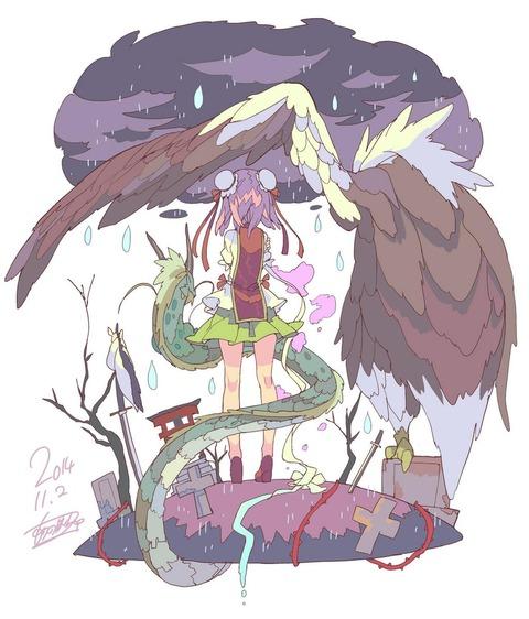茨木華扇と鷲-43