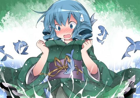 わかさぎ姫と魚-46