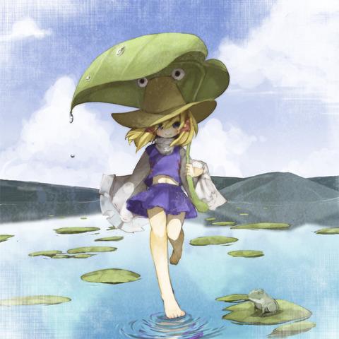 洩矢諏訪子と葉っぱ傘-09