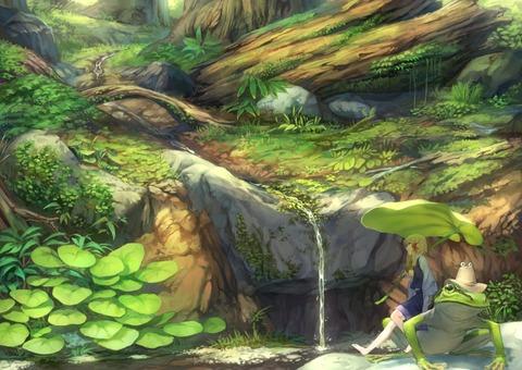洩矢諏訪子と森-45