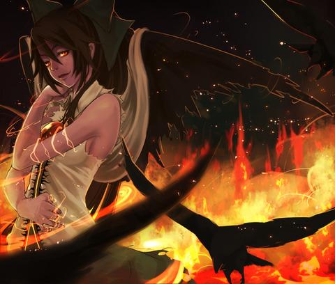 霊烏路空と炎-43