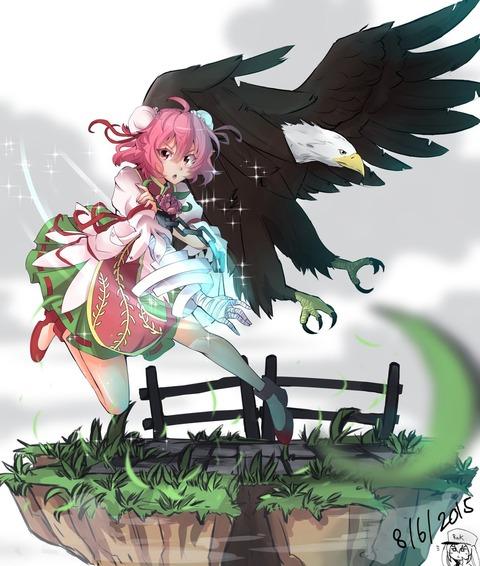 茨木華扇と鷲-23