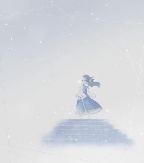 博麗霊夢と雪-38