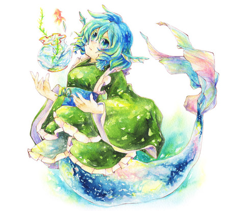 わかさぎ姫と魚-16