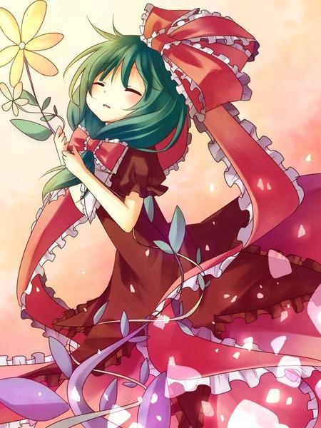 鍵山雛と花-48