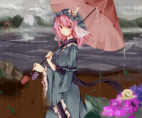 西行寺幽々子と和傘-14