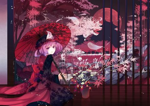西行寺幽々子と和傘-49