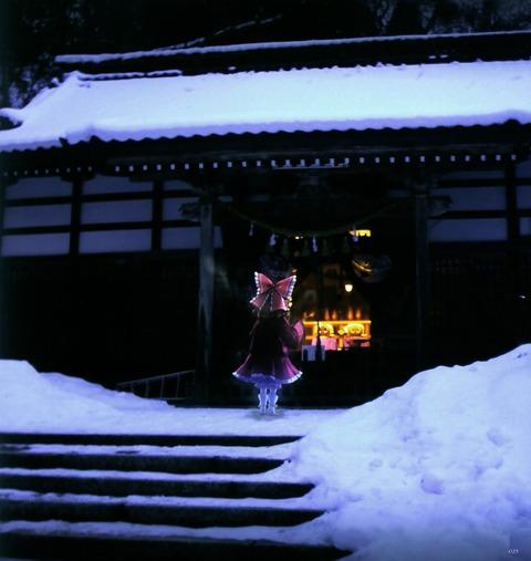 博麗霊夢と雪-20