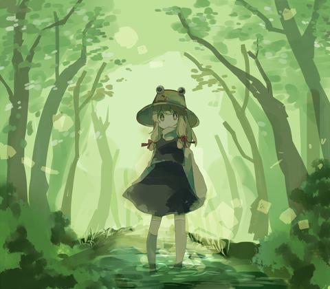 洩矢諏訪子と森-25