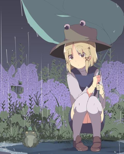 洩矢諏訪子と葉っぱ傘-33