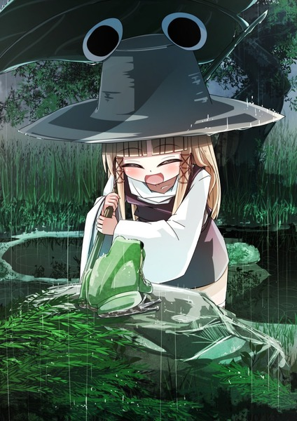 洩矢諏訪子と葉っぱ傘-27