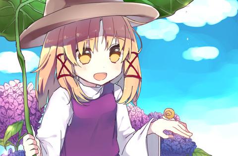 洩矢諏訪子と葉っぱ傘-12