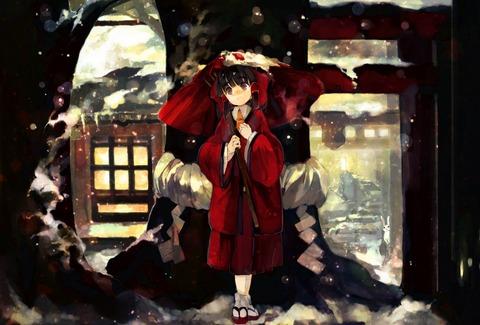 博麗霊夢と雪-19